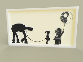 Girl AT-AT + Darth Vador Funny