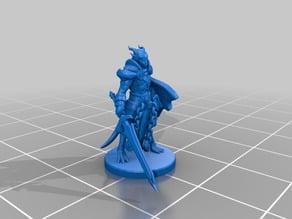 Dragonborn Paladin Miniature
