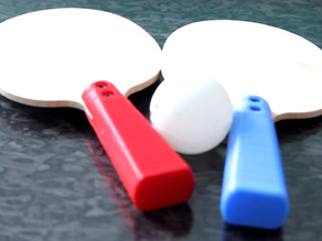 Fully Fabbable Tennis table paddles