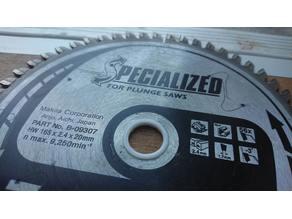 Circular saw blade arbor reduction adapter