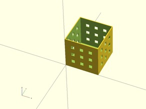 Easy to print yet powerful parametric container