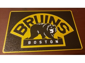 Boston Bruins Sign with border Multi color Material