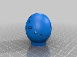 My Customized Easter Egg Lamp klara