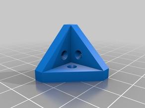My Customized Parametric corner bracket with round countersunk holes