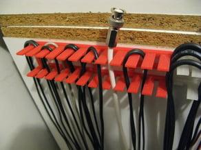 Test lead hanger/organiser