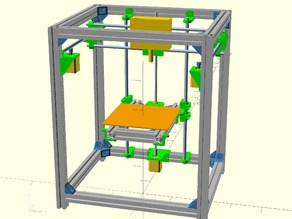 "Fully Parametric 3D Printer CoreXY ""HyperQbert"""