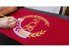 Roman SPQR banner stencil