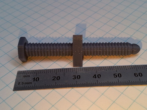 Print friendly threaded bolt/nut