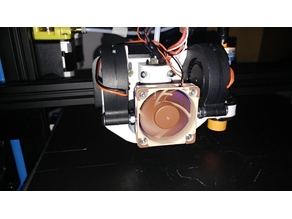 CR-10 E3D V6 mount Dual FAN Mesh