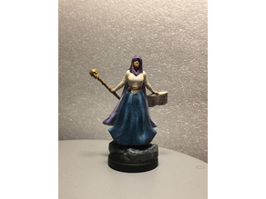 D&D Miniature Necro Caster Female (updated)