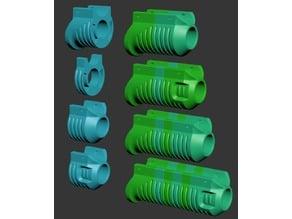 Modular Nerf shotgun pump grips