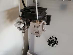 Dual geared extruder support with fan, for ultimaker