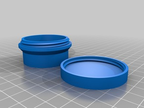 My Customized round box with threaded lid 40x20