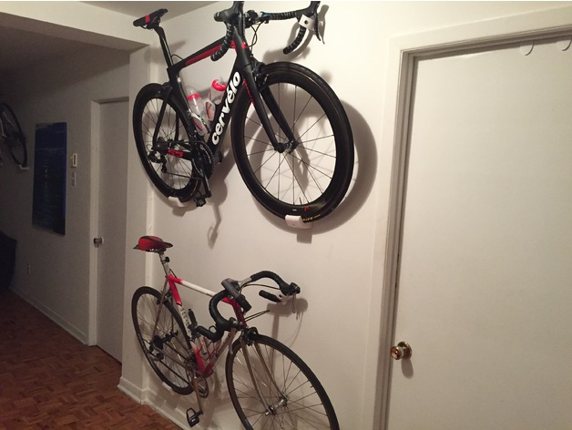 road bike wall mount by jpmorand thingiverse. Black Bedroom Furniture Sets. Home Design Ideas