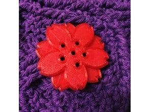 Decorative Cherry Blossom Button