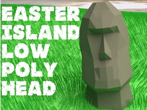 Easter Island Low Poly Head