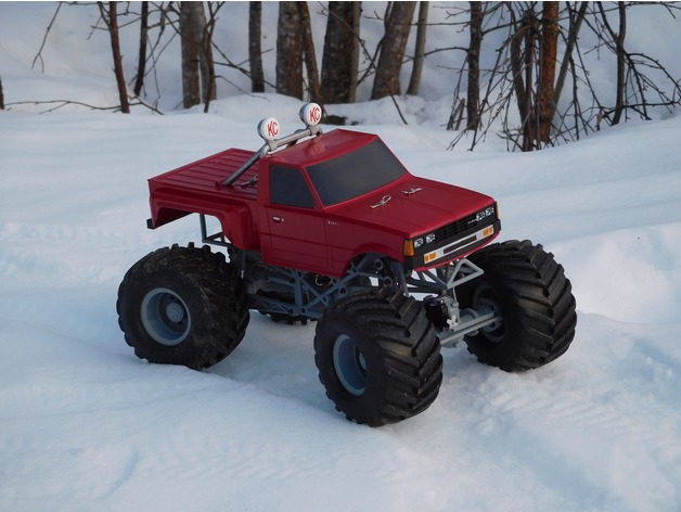 photo about Monster Truck Printable called Ursa (undertake) - Entirely printable Monster Truck by means of tahustvedt