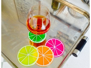 Remixed Citrus Coaster