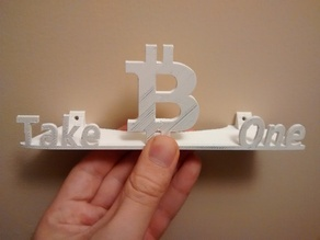 "Bitcoin Wall Stand for 8"" x 11"" Sheets"