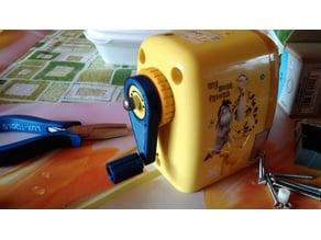 Pencil sharpening machine handle