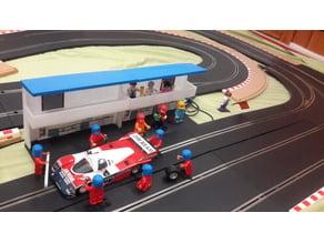 Lego Slot Car Pits  Facsade