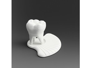 business card holder (tooth)