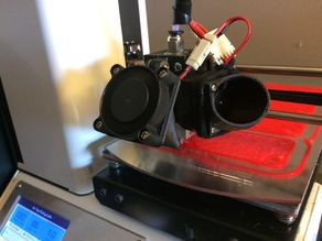 PLA Cooling Duct for the Hot end Mount for ABS by DtEW