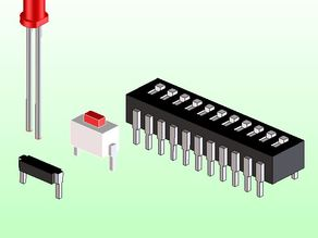 DIP SWITCH, PUSH BUTTON, LED ELECTRONICS STL SPACE MODELS