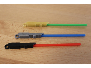 Lightsaber Keychain (Fitted, Three Pieces)