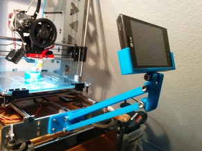 Heavy Duty (a.k.a. overkill) Phone mount for Prusa i3 P3steel
