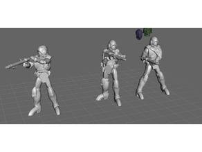 Robotech Zentraedi Lt Combat Armor Team 3 (3 units)