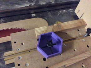 T-Slot Tablesaw Material Guide - Hex Shape