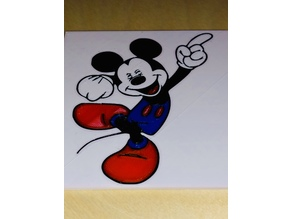 Multicolor Mickey 3D printable