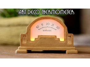 Art Deco Analog Thermometer using Arduino