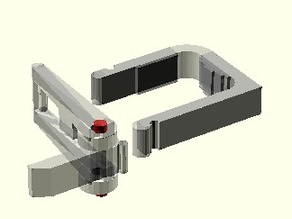 Parametric fast-clamp OpenSCAD library for K8200/3Drag