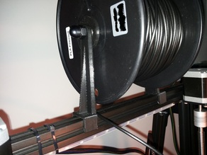 """Spool Holder - Just """"clip"""" to Extrution - Very Easy Mount"""