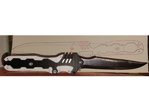 knife handle inspired by Riden's sword in Metal Gear Rising: Revengance
