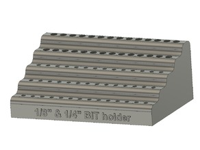 "1/8"" and 1/4"" CNC bit holder"