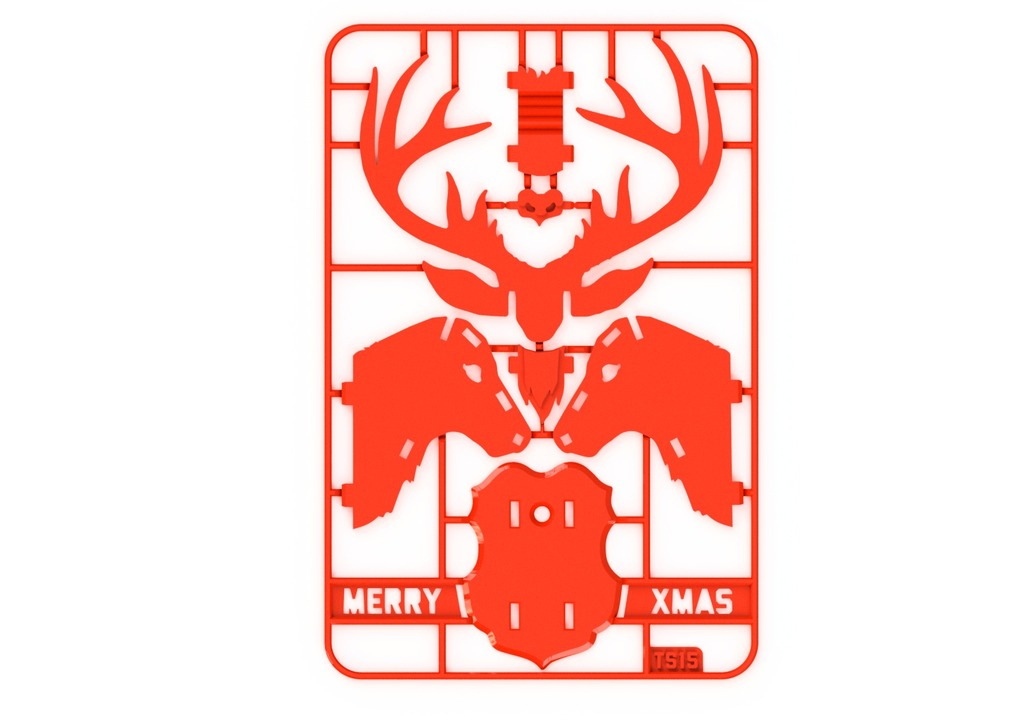 Christmas Reindeer kit card by tone001 - Thingiverse