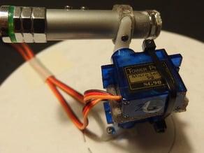 Simple Servo 9g robotic arm - laser pointing