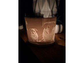 Lithophane Stand with Candle Holder