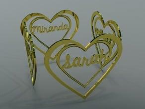 Named Heart Bookmarks