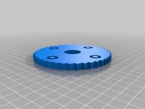 Circular saw blade fidget spinner
