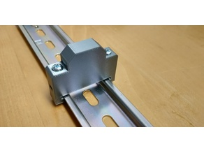 Din Rail End Block - 'normal' Screws