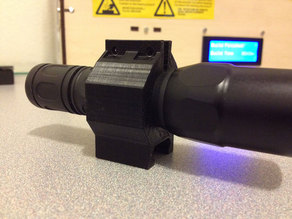 Picatinny Rail Flashlight Mount - 25mm hole
