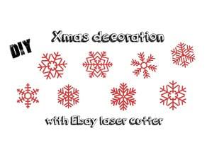 DIY xmas deco snowflakes