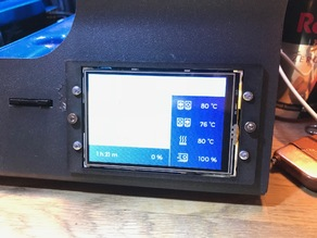 BCN3D Sigma display / touchscreen mounting plate