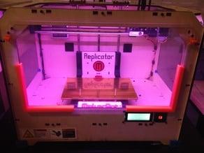 Makerbot Replicator Panel Holder Long Version