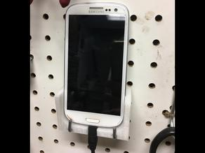 Samsung Galaxy S3 dock for pegboard