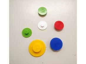Customizable bearing cap for fidget spinners
